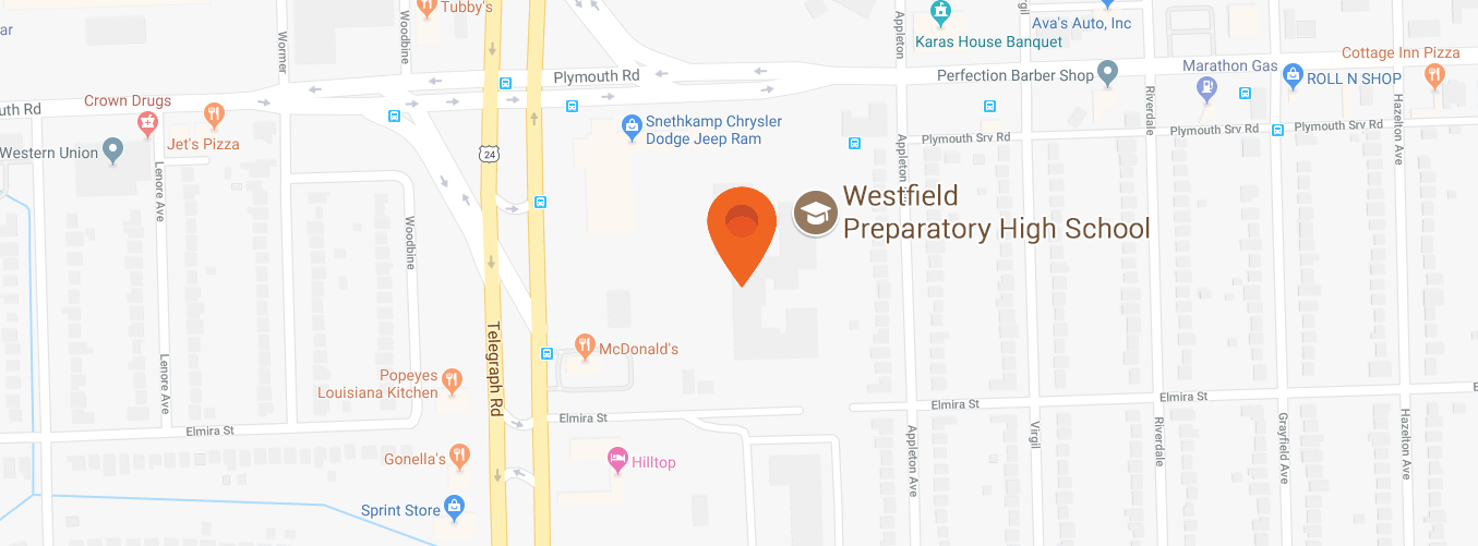Map to Westfield Prep